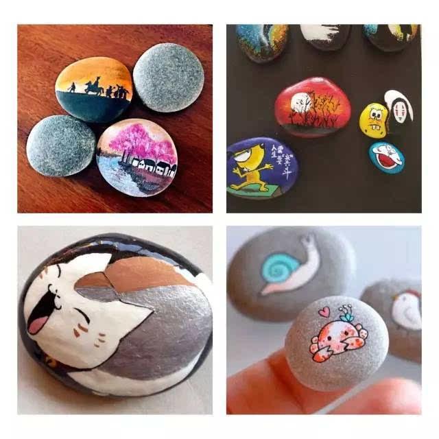 玩转慢艺术丨小石头彩绘 彩泥钥匙扣,今日下午三点半约定你