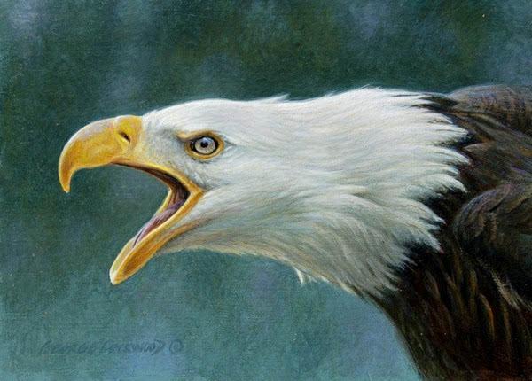 美国画家 george lockwood 色粉画作品,的确栩栩如生 ,被对象束缚,只