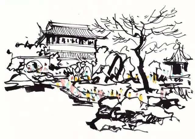 苏州园林速写线稿分享展示