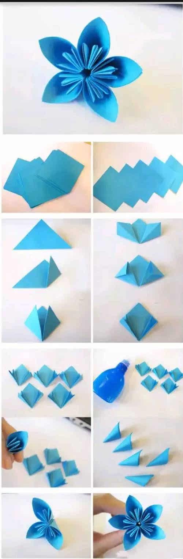 5款简单的折纸花教程来啦!大家千万不要错过!