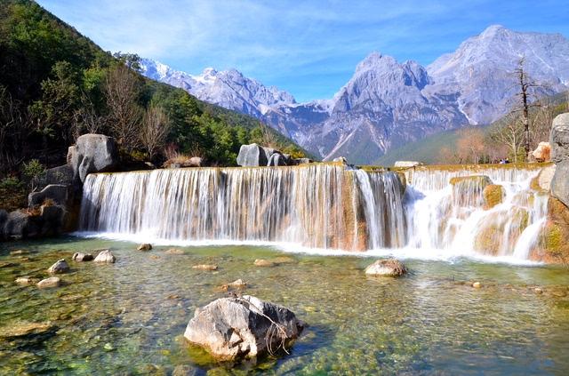 壁纸 风景 旅游 瀑布 山水 桌面 640_423