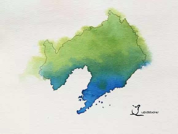 唯美| 中国各省的水墨画地图,我的家乡是耀眼的宁夏红