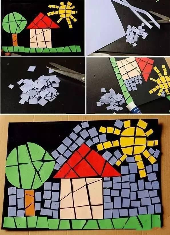 撕纸创意拼贴画