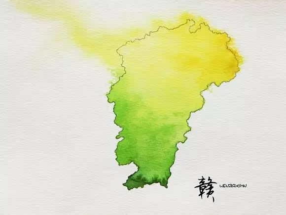唯美  中国各省的水墨画地图,我的家乡是耀眼的宁夏红