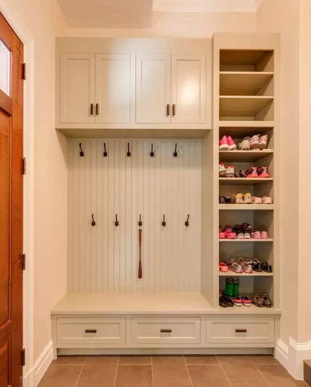 这样的入户鞋柜设计,如此甚好