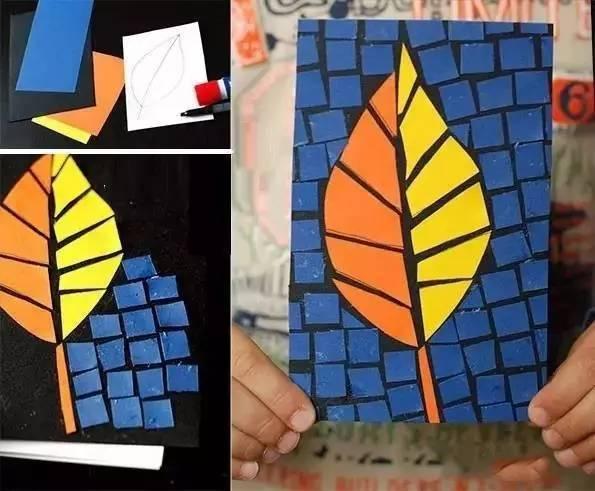 【巧妈手工】撕纸创意拼贴画