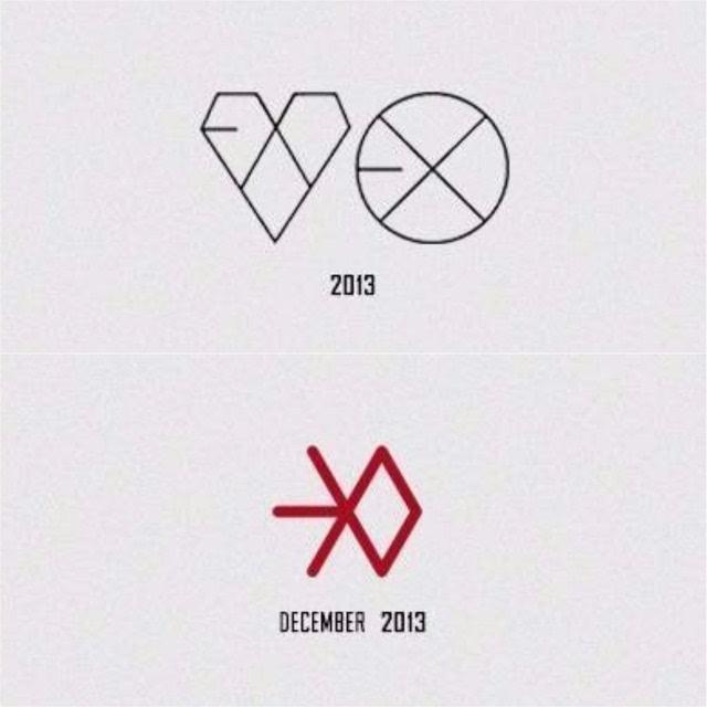EXO LOGO演变史 你是哪一款的时候爱上呢