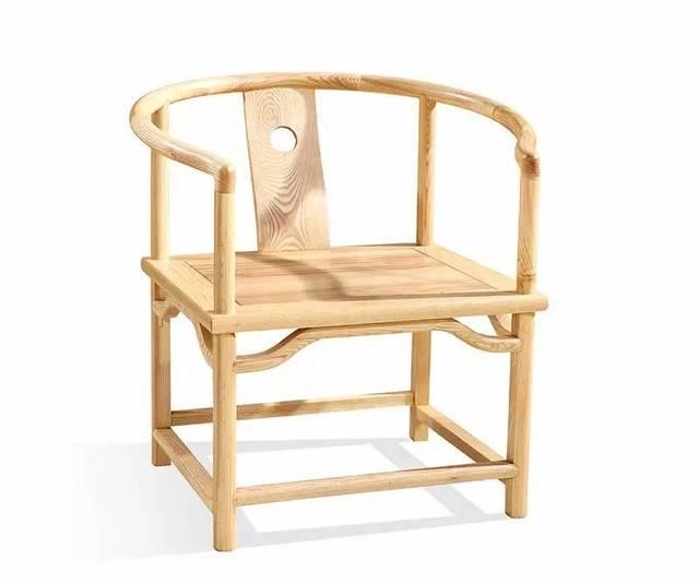 新中式椅子三视图手绘图