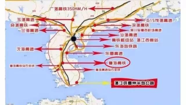 终发展至海安站,全长130公里,按时速250公里设计;湛海高铁预计在