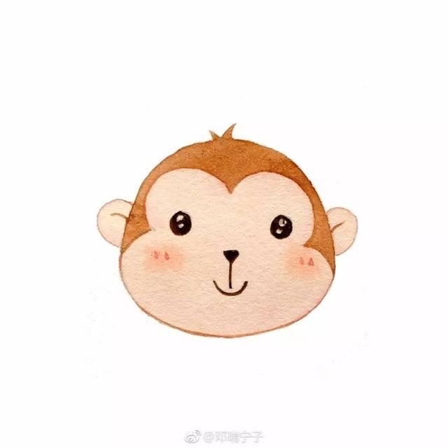 手账简笔画素材 | 一组萌萌哒小动物头像~(邓瑞宁子)