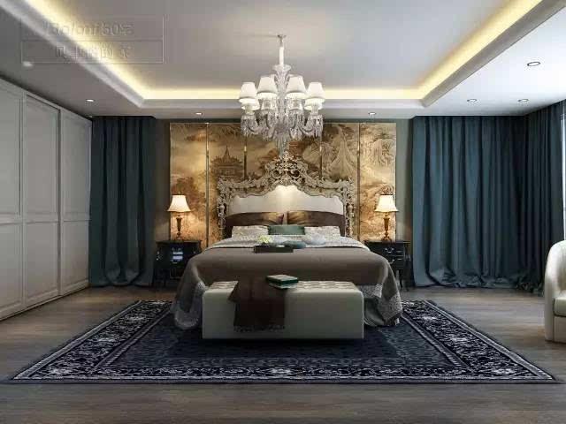 床头软装欧式背景