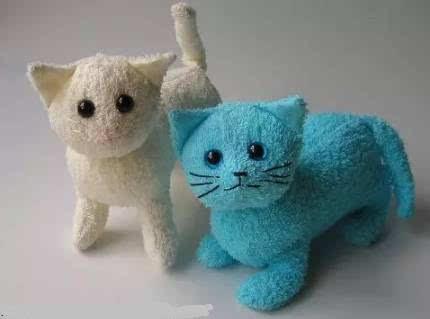 猫图案毛巾