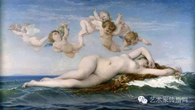 (theodore chasseriau,1819~1856),法国 维纳斯的诞生-1863年作 画家图片