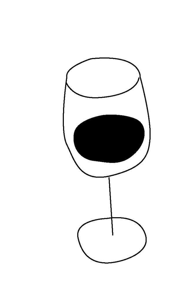 杯 杯子 简笔画 手绘 线稿 640_1038 竖版 竖屏