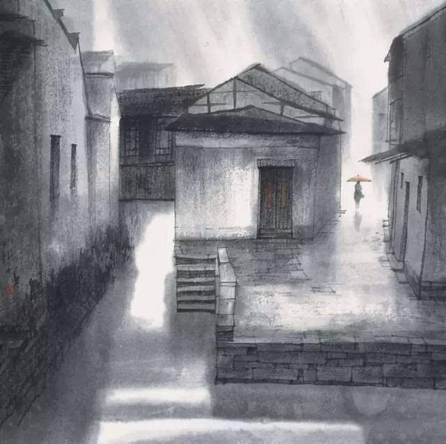 一个撑着油纸伞的姑娘,戴望舒的一首《雨巷》描绘出多少人梦中江南的