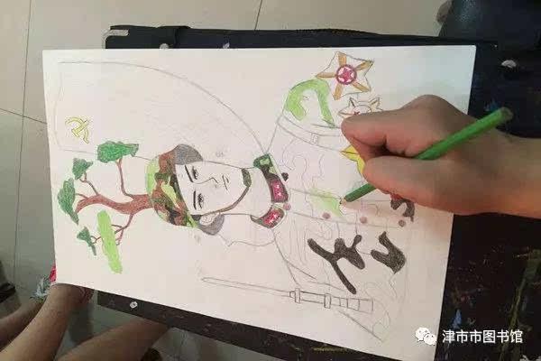 """""""解放军叔叔,你好!""""——手绘明信片献给最可爱的人 公益课堂"""