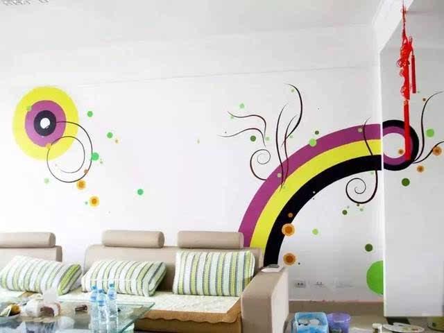 【墙绘教程素材第一品牌】墙绘素材 手绘墙素材 电视背景墙