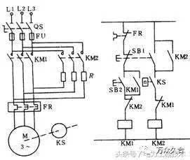 单向反接制动控制电路,图文分析,含原理分析图片