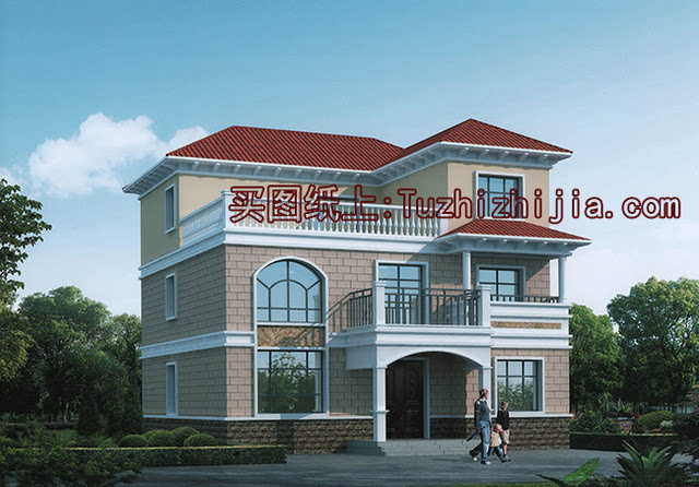 农村三层独栋小别墅设计图-占地150平造价才30万!