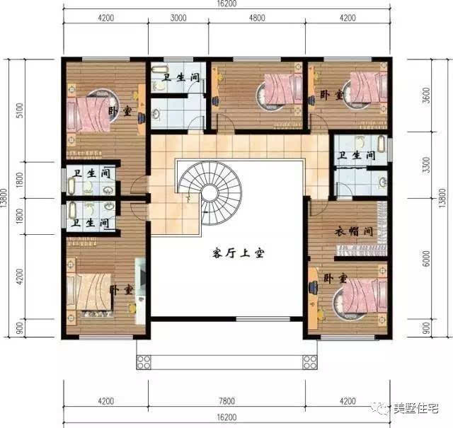 设有客厅,厨房,餐厅,娱乐室,健身房,2卧室,3卫生间(这样的设计比较