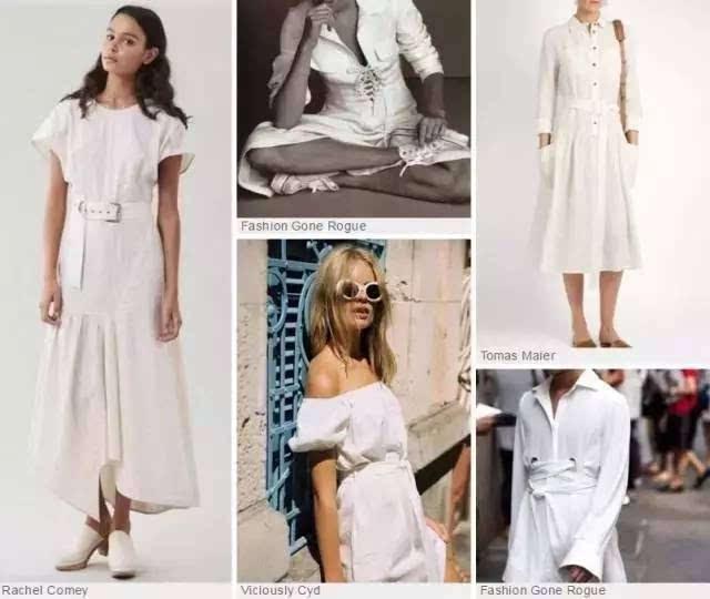 平纹针织面料呈现动感柔美的风格,高档梭织面料更精致时尚.