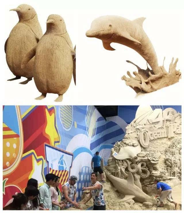 吉尼斯世界纪录雕塑大师 ray villafance 率领艺术团队,将公园动物及