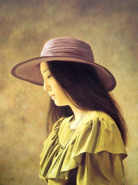 日本画家森本草介油画人物欣赏-文化频道-手机搜狐