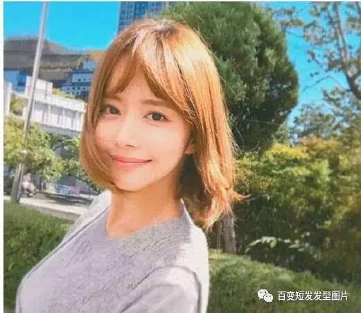 圆脸适合什么韩式短发 韩式中短发烫发发型图片