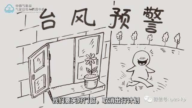 台风刮中国 手绘画
