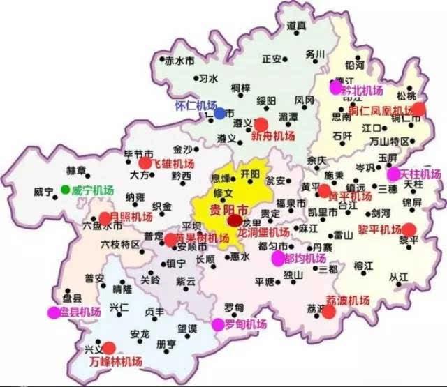贵州旅游景点分布地图