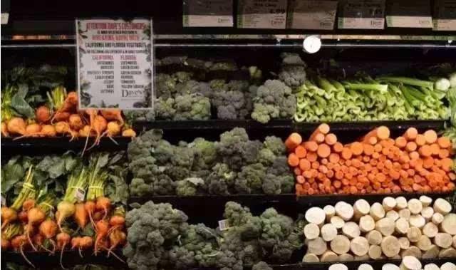 3,交差型 用于陈列像梨,山芹菜,葱这种形体较长,但厚度不同的商品.图片