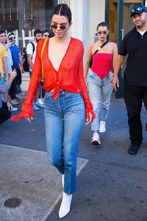 肯达尔·詹娜又穿透视装逛街,向她学任性穿衣吧!