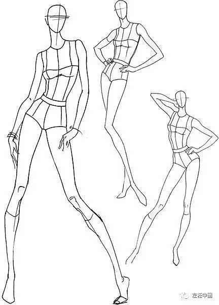 服装设计|从人体,五官到手脚刻画,150张时装画初学者不可错过的基础图片