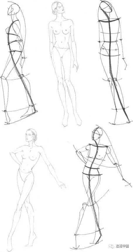 服装人体五官手绘图