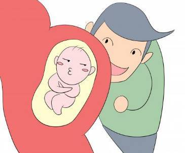 胎儿拳打脚踢卡通图