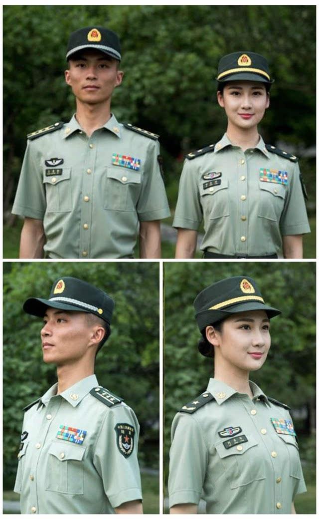一图 中国人民解放军军服的发展史