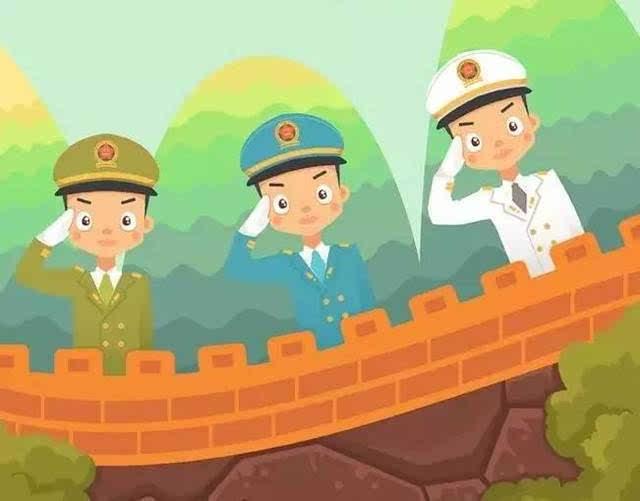 中国军人卡通壁纸