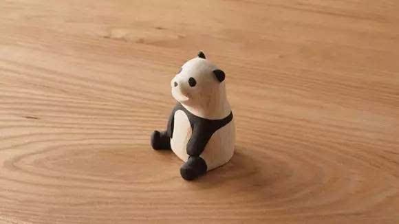 手工木雕小动物玩偶