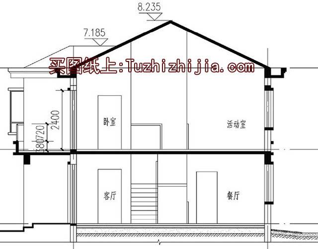 主体20万-经典小户型双拼二层房屋住宅设计图!图片