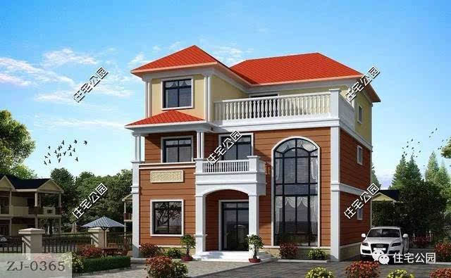 7mx11m 建筑面积:361㎡ 7 欧式三层别墅 占地面积:12.1m*11.