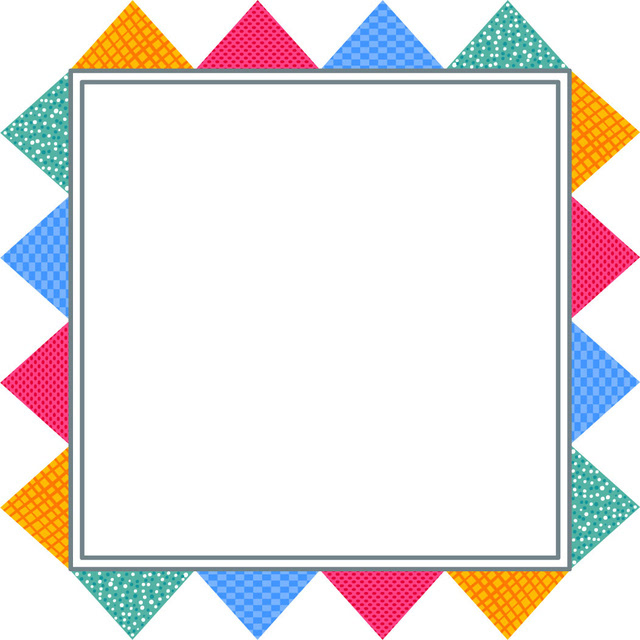 七彩边框头像框