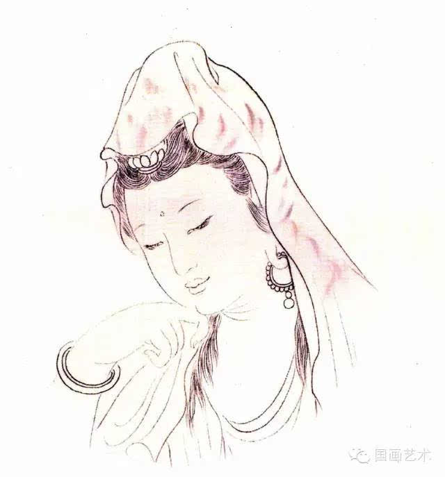 观音菩萨手绘图案