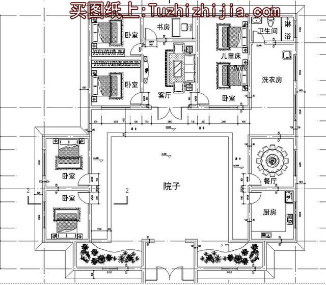 一层中式四合院别墅设计方案,咱中国自己的建筑图片