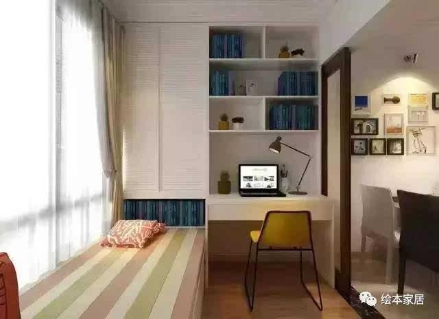 小巧的榻榻米书房,不管家里有没有小孩,把它当成一个纯粹的书房来用