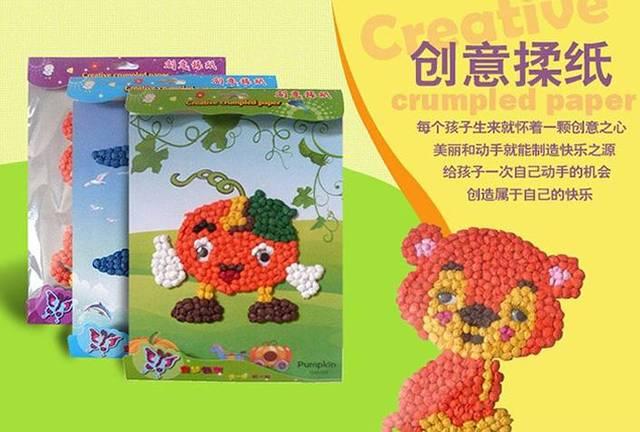 【报名】快乐手工 --手揉纸搓纸画儿童手工制作diy创意粘贴画开始报名图片