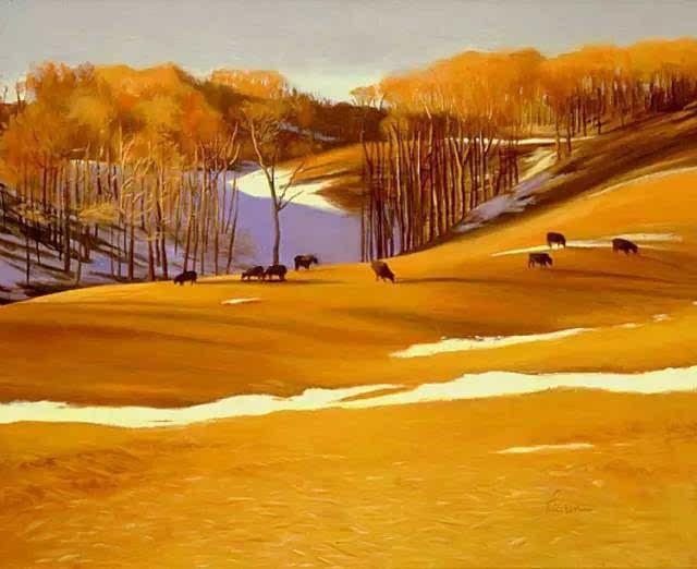 """点击""""油畵"""" 邀 请 全 球 油 画 爱 好 者 聚 会 加拿大画家Lili Anne Laurin,以描绘绮丽多姿的加拿大风景而著称。他的作品美轮美奂,湖泊,森林,雪原,溪流,于画布之上,在形色光影中倾洒出绝美风景。"""