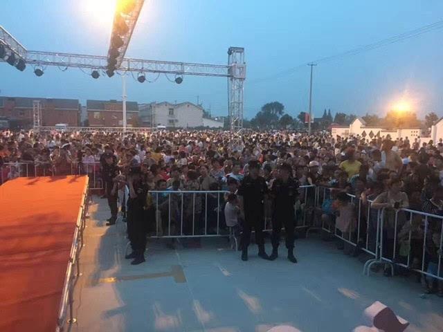 致歉申明:如皋城北街道平园池村藕遇群星演唱会活动取消