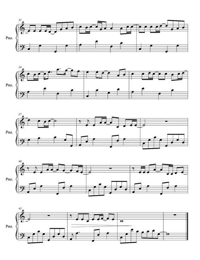 渴望钢琴简谱-朴树 平凡之路 钢琴教学,受伤苦恼时弹一曲,一切将烟