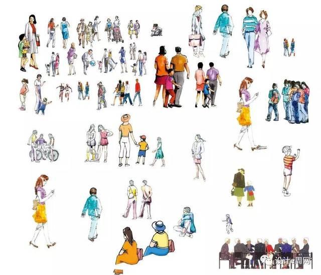 街头人物,手绘人物,系列人物,sanaa people, 矢量ai人物,高质量国外