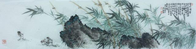 【艺术人生】中国当代山水画家高显惠画竹作品赏析图片